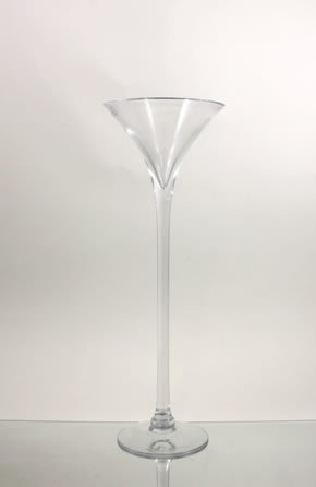 Clear Good Quality Martini Glass Vase / Holder. Open: 6