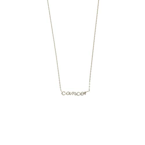 Columbus Jewelry - Columbus Rhodium Plated Astrology Horoscope Zodiac Necklace (Cancer (June 21 to July 22))