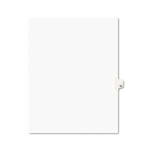 AVERY 11925 Avery-Style Legal Side Tab Divider, Title: 15, Letter, White, 25/Pack (Dividers Tab 15 Avery)