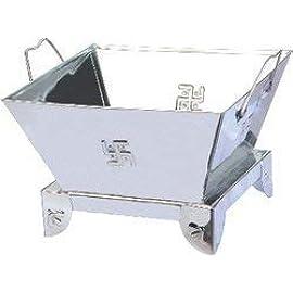 Prachi International Stainless Steel Hawan Kund(Small Size)(LXB, 8.2X8.2 inch's)
