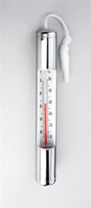 Ocean Blue Water Products 150025 Chrome Plated (Chrome Pool Thermometer)