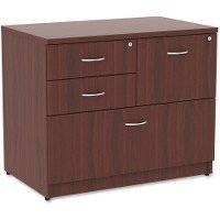 Lorell Essentials 4 Drawer Lateral File Cabinet in Mahogany (Office Mahogany Cabinet)