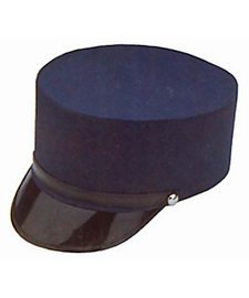 (Adult  Navy Blue Train Engineer Conductor Driver Hat Costume)