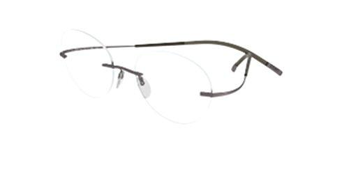 Silhouette TMA Icon 7580/40 Eyeglasses 6055 Brown - Glasses Silhouettes