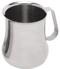(EPB-24M) 24 Oz Stainless Steel Frothing Pitcher w/ Measuring Scale (24 Ounce Milk Pitcher)