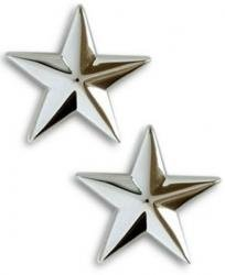 Navy Admiral 1 Star Collar Device Rank Insignia Pair ()