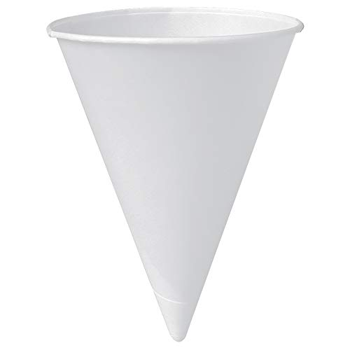 Solo 6R-2050 6 oz White Paper Cone Cups (Case of 5000)