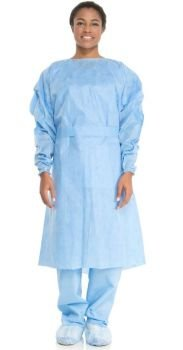 Kimberly Clark CONTROL Cover Gown - Universal Size 26''x46''x22'' Blue 100 Per Case