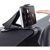 Car Phone Holder Dashboard Cellphone Mount Mobile Clip Stand for Samsung Galaxy S8/S7/S6/S5 and Other Smart Phone(3.0-6.5inch): more info