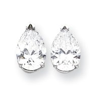 Best Designer Jewelry 14k White Gold 10x7 Pear Earring Mountings