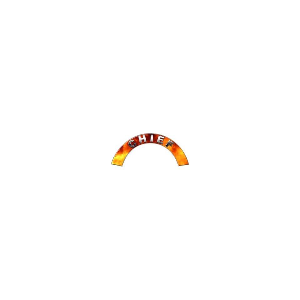 Chief Real Fire Firefighter Fire Helmet Arcs / Rocker Decals Reflective
