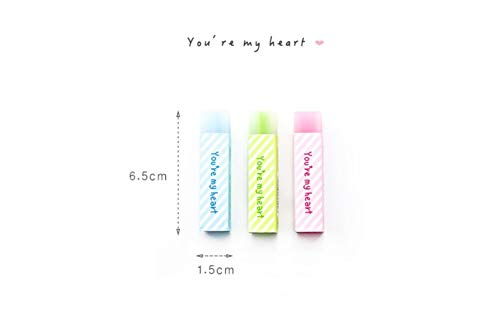 24 pcs/Lot Cute star My heart color Eraser 2B pencil erasers Stationery Office supplies borradores de goma kawaii by PomPomHome (Image #6)