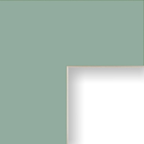 Craig Frames B146 8x10-Inch Mat, Single Opening for 2.5x3.5-Inch Image, Sea Foam with Cream Core
