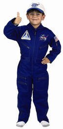 Astronaut Flight Suit (Flight Suit with Embroidered Cap Costume Size: Size 8 / 10)