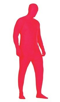 Red Invisible Man Costume (Invisible Man (Red) Unisex Adult Costume Size X-Large (44-48))