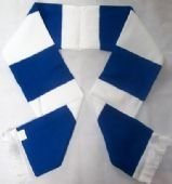 Barrow Raiders Rugby League Blue and White Retro Bar Scarf - Price includes FREE UK postage