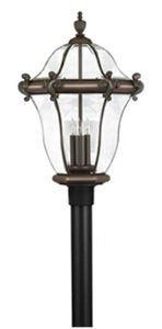 San Clemente Outdoor Post Lantern in Copper Bronze San Clemente Outdoor Lantern