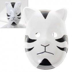 [Naruto Mask Cosplay Props - Cat Shadow Mask - DIY Cosplay Costume (Make Your Halloween Mask Outstanding) for Halloween, Cosplay, Prom, Night Party -Take Time Shipping 25 Day to Major] (Tobi Mask Costume)