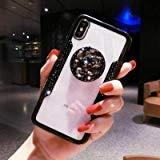 1 piece LaMaDiaa 2018 Hot Selling Luxury Fashion Airbag Diamond Bracket Lanyard Phone Cases For iPhone X 8 7 6 6SPlus Back Cover Capa