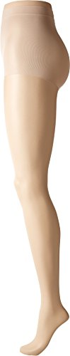 CK Women's Infinite Sheer Pantyhose with Control Top, Champagne, Size (Pantyhose Champagne)