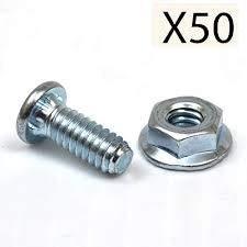 Garage Door Hardware Track Bolt and Serrated Flange Nut 1/4-20 X 5/8