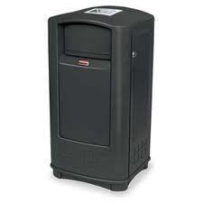 Rubbermaid Commercial Plaza Jr. Trash Can with ()