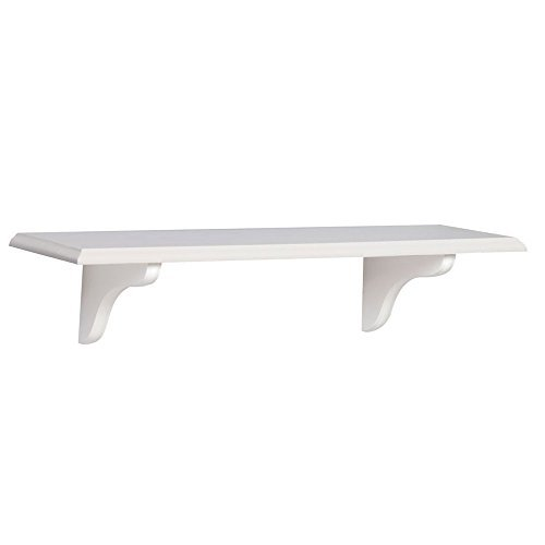 Shelf-Made KT-0148-824WT Wood Shelf Kit, White, 8-Inch by 24-Inch