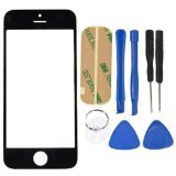 ReNext Replacement LCD Front Screen Glass Lens Tools for Apple iPhone 5C Black (Replacement Kit 5c Blue Screen)