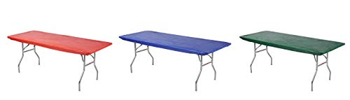 (Kwik-Covers Rectangular Fitted Plastic Table Covers, 6' x 30