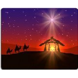 Qzone Mousepads Abstract background Christian Christmas shining star sky birth of Jesus IMAGE 33123503 Customized Art Desktop Laptop Gaming mouse Pad