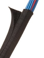 TechFlex F6 Woven Wrap 3/8'' 25' Wiring Split Wire Covering F6W0.38BK