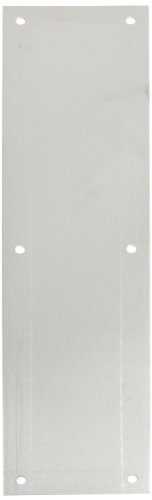 Rockwood 70C.28 Aluminum Standard Push Plate, Four Beveled Edges, 16