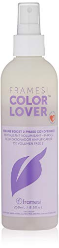 Framesi Color Lover Volume Boost 2 Phase Conditioner - 8.5 Ounce, Ultra Light, Volumizing and Color Safe Leave In Conditioner Spray, Vegan, Gluten Free, Cruelty Free ()