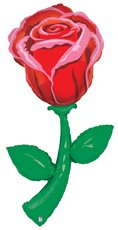(60 Inch Red Rose Fresh Picks Helium Shape)
