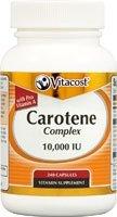 Vitacost Carotene Complex with Pro Vitamin A -- 10,000 IU - 240 Capsules