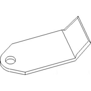 Blade Flail Mower Pack of 10 Part No: A-EF293: Amazon com