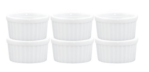 HIC Porcelain 10-Ounce Deep Souffle Dish, Set of Six by HIC Porcelain