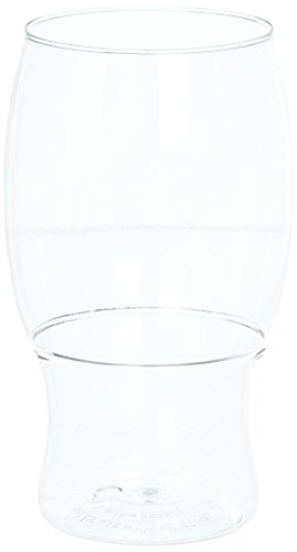 TOSSWARE 18oz Pint - recyclable beer plastic cup - SET OF 12 - stemless, shatterproof and BPA-free beer glasses