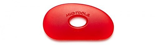 Sherrill Mudtools Shape 0 Polymer Rib for Pottery and Clay Artists, Red Color Very Soft R0