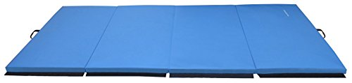 "BalanceFrom GoGym All Purpose 4'x10'x2"" Extra Thick High Density Anti Tear Gymnastics Gym Folding Exercise Aerobics Mats"