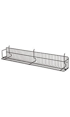1pc, 48 x 6 x 6 ½ inch Black CD/DVD/Cassette Shelf for Slatwall or Pegboard ()