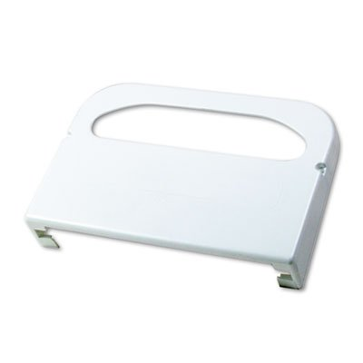Wall-Mount Toilet Seat Cover Dispenser, Plastic, White, Sold as 1 Each (Seat Toilet Wall Plastic Mount)