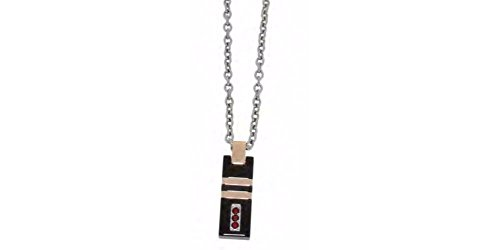 (Zoppini - Stainless Steel Black Rose Necklace)