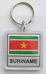 Suriname - Country Lucite Key Ring (Lucite Rings Band)