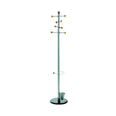 Alco Mirror Coat Rack/Stand with 8 Knobs, Chrome-Plated Steel, 69 x 15 Inches (2807-30) by Alco