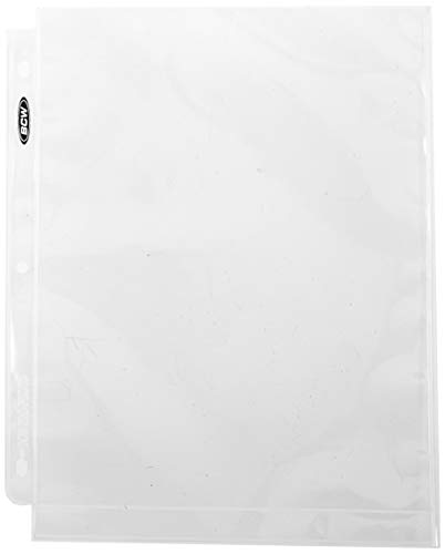BCW 8x10 Photo Page 8x10 Photo Pages Photo Storage Binder, Ultra Clear (COMINU038307), 1-Pack ()