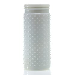 Vintage Hobnail White Milk Glass Jar Candle Holder, Antique Vase, Large