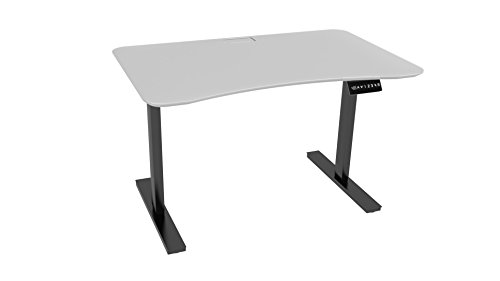 Ergo Elements Adjustable Height Standing Desk with Electric Push Button Black Base, 4' by 30