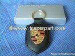 Porsche Crest Key Ring - Black by Porsche