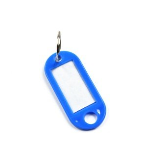 Coded Key Tag with Label Window Ring Holder, 60 Pieces, Assorted Color